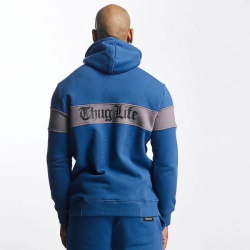 Thug Life / Zip Hoodie Bar in blu