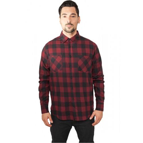 Urban Classics Checked Flanell Shirt Black Bur