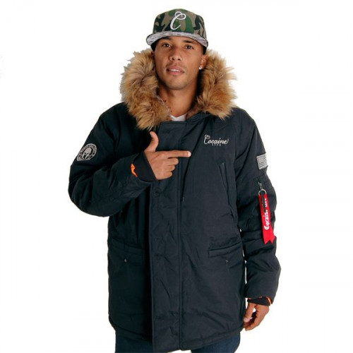 Cocaine Life Basic Parka Winter Jacket Blk
