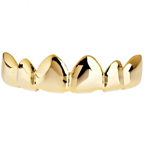 Iced Out One Size Fits All Bling Grillz - RELAX TOP - Gold
