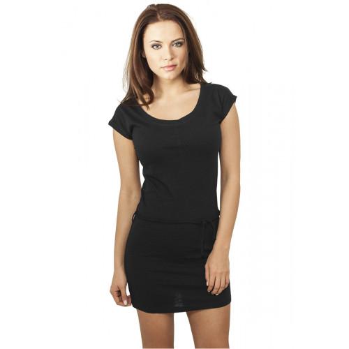 Urban Classics Ladies Slub Jersey Dress Blk