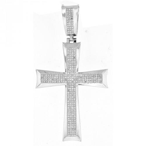 925 Sterling Silber Kreuz Zirkonia Anhänger