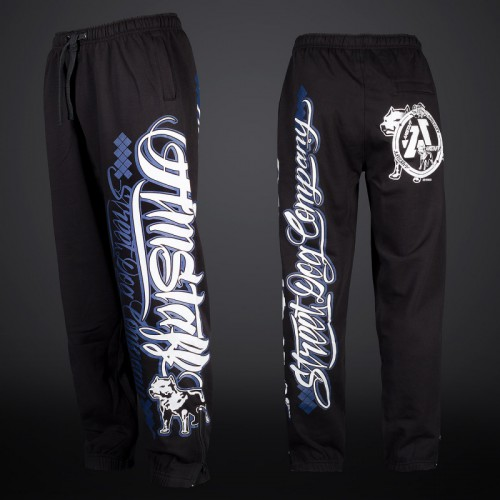AMSTAFF ZERU SWEATPANTS - BLACK/BLUE