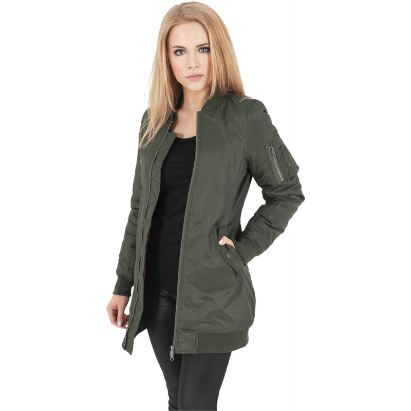 a9433b382624 Urban Classics Ladies Long Bomber Jacket - pimpin.sk