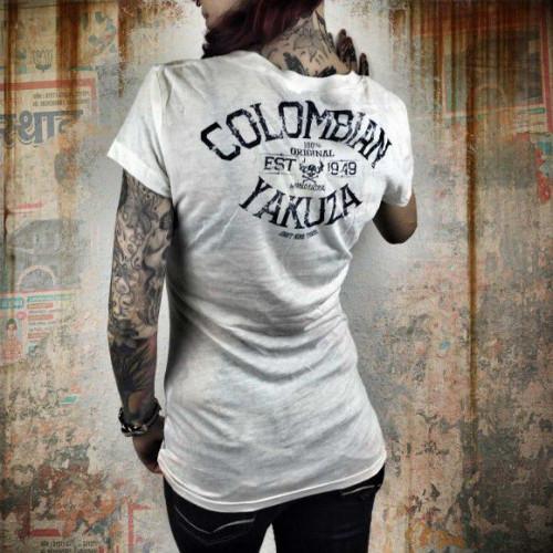 Yakuza dámske tričko Columbian GSB 8120 snow white