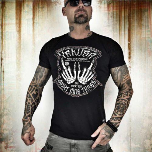Yakuza tričko pánske Fxckers TSB 7004 black