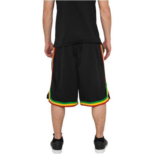 Urban Classics Stripes Mesh Shorts Black/rasta